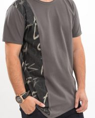 Tricou Grey cotton painted tags